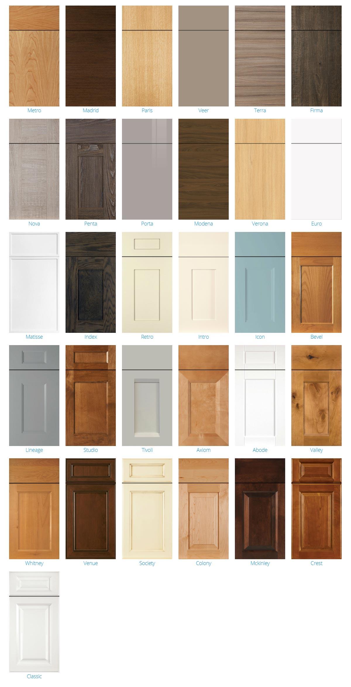 2600 Series Cabinet Door Styles