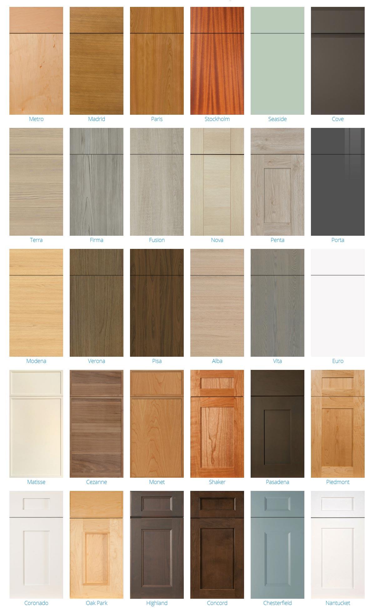 2900 Series Cabinet Door Styles