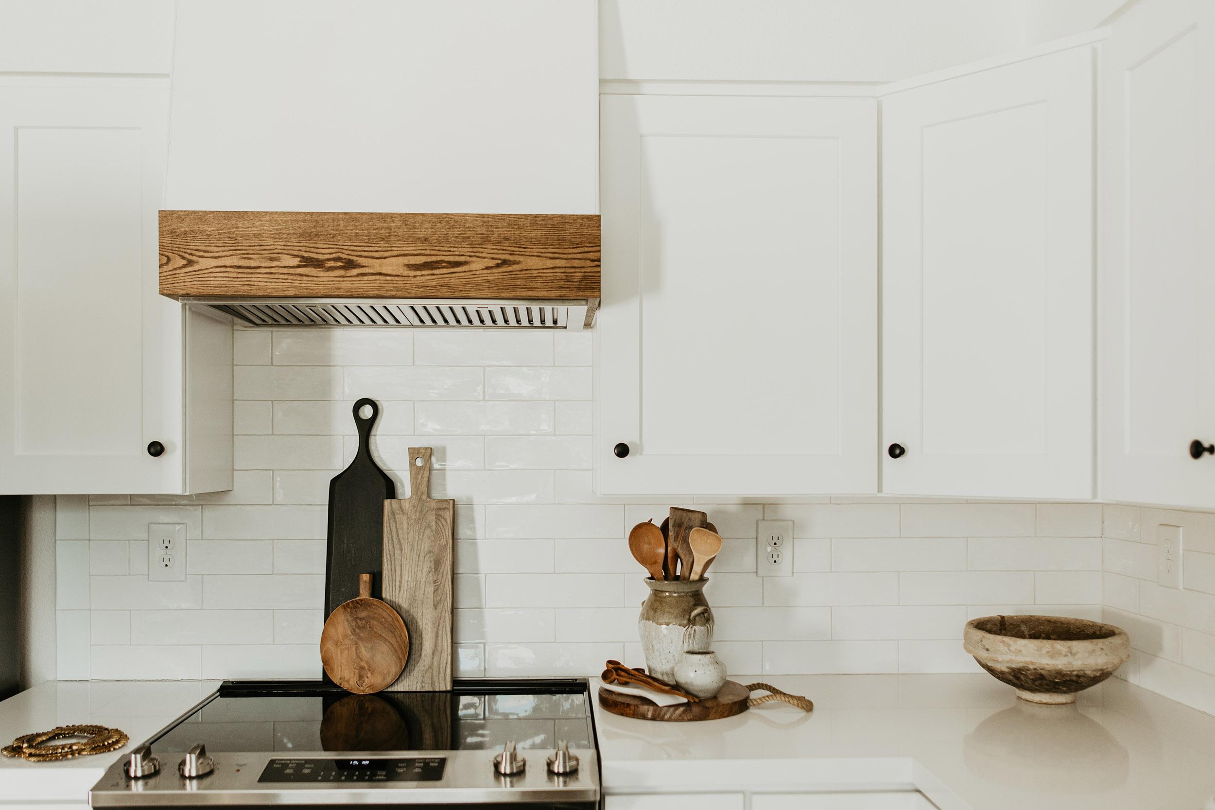 Modern Farmstyle White Kitchen Cabinets